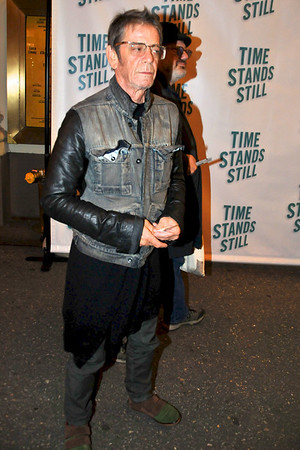 "10/07/10 -Lou Reed attends opening night of ""Time Stands Still"" at the Cort Theatre on Broadway."