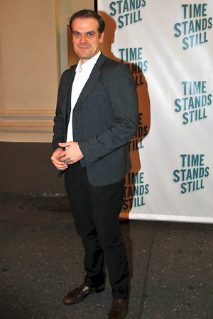 "10/07/10 David Harbour attends opening night of ""Time Stands Still"" at the Cort Theatre on Broadway."