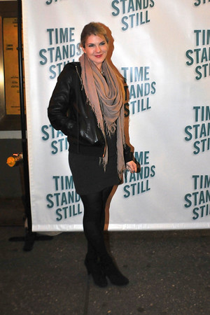 "10/07/10 Lilly Rabe attends opening night of ""Time Stands Still"" at the Cort Theatre on Broadway."