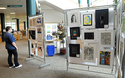 The Educational Service Center of Lorain County presents the 34th Annual Lorain County Elementary/Middle School Art Exhibit (grades K-8) at the Elyria Public Library, West River Branch, Tuesday, May 3.  The show continues through May 19 during library hours. STEVE MANHEIM/CHRONICLE