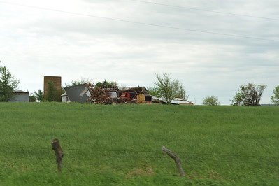 Old barn torn apart.