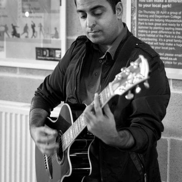 Ricky on guitar