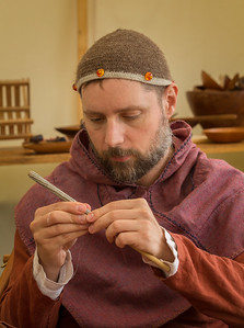 Viking Weaving With Silver Wire