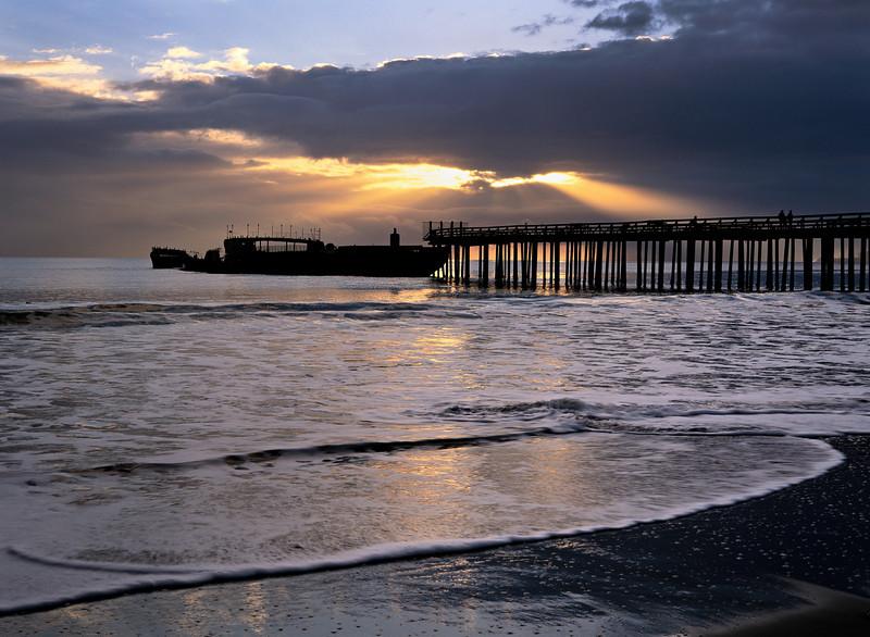 cement ship sunset sv