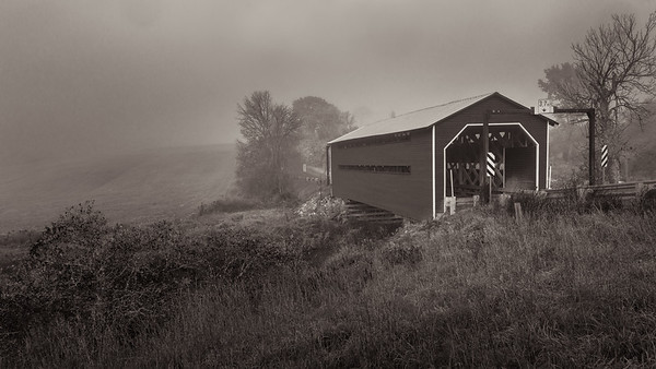 Covered Bridge in Morn