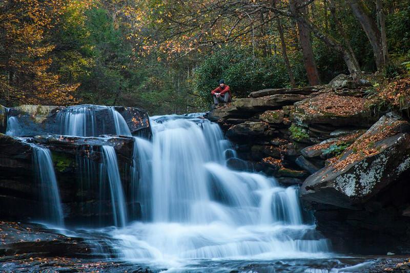 Fall 2013,  West Virginia waterfall.