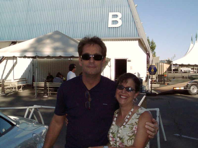 I got to meet Huey Lewis!!!  I've been a long time fan...it was just pure luck that I got to meet him at the California State Fair...he had just arrived and was getting out of his car...we knew he'd be coming because we had JUST met Sean and Johnny!!!  I was so THRILLED!