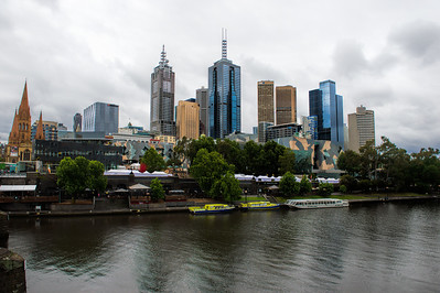 Melbourne Skyline and the Yarra River, Australia