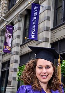 New York, New York - May 15, 2016 : Melissa NYU cap and gown Washington Square Park and vicinity    Credit: Robert Altman