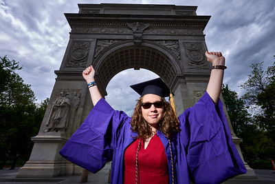 New York, New York - May 15, 2016 : Melissa NYU cap and gown Washington Square Park and vicinity    Credit: Robert Altman