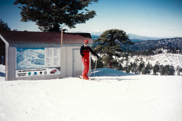 Dad and I spend the day skiing at Snow Valley (January 16, 1991)