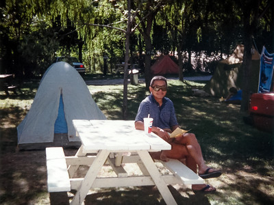 Camping in Summerland, BC with dad (August, 1986)