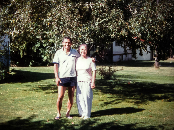 Visiting dad's friends in New Denver, BC (August, 1986)