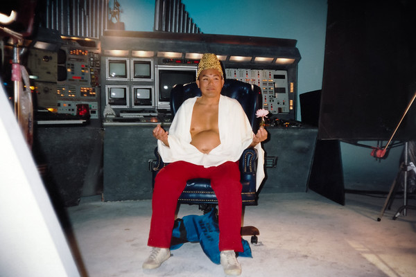 "Dad is ready for his close up on the set of ""Oh God...Please Don't Let Me Strike Out!!!"" (March 14, 1992)"