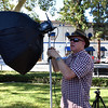 Photographer Getting Ready for Portrait Shoot