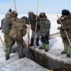 Fishing on Lake Baikal. (Buryatia, Russia)