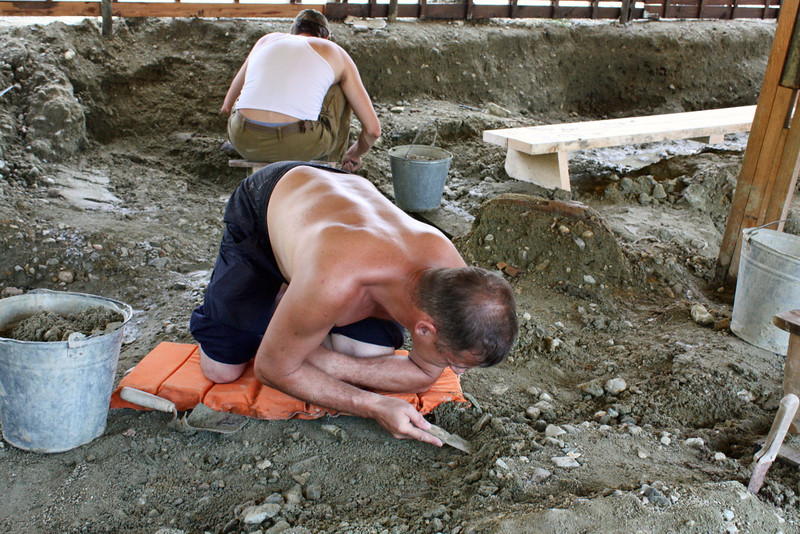 Digging for dinosaur fossils - meticulous & backbreaking work. (Amur, Russia)