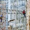 Dangerous work. Construction workers at Gaudi's La Sagrada Familia in Barcelona.