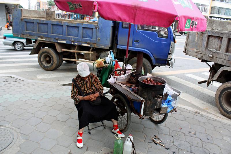 Asleep on the job. (Heihe, China)