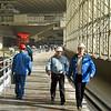 Men at work. (Generator hall, Sayano–Shushenskaya Power Station, Khakassia, Russia) (Саяно Шушенская гидроэлектростанция имени П. С. Непороожнего)