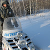 Forest ranger who pulled our sledge into the forest in -35C weather. (Tobolsk Region, Russia)