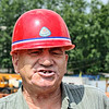 Hard hat. Li Lihua's construction manager.  A Hero of of Soviet labor for his work on the Baikal-Amur Railway, presently a construction manager in Blagoveshchensk. (Amur Region, Russia) (8.6.2011)