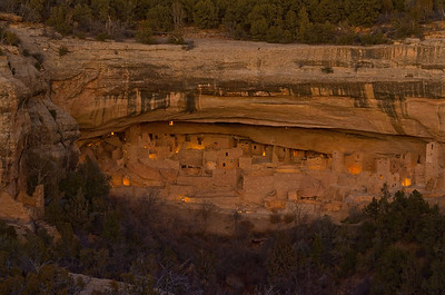 Mesa Verde National Park, Colorado.  100th Anniversary Lumineria