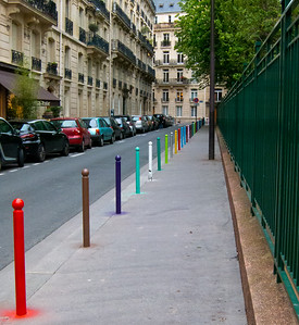 Rainbow Poles Paris, France