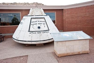 Nobody, North America, USA, Meteor Crater near Winslow, Arizona, Visitor Center Courtyard, Apollo Space Test Capsule