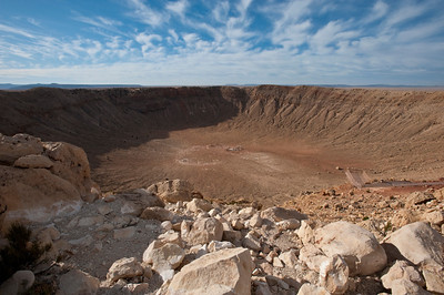 Nobody, North America, USA, Meteor Crater near Winslow, Arizona