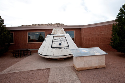 Nobody, North America, USA, Meteor Crater near Winslow, Arizona, Visitor Center Courtyard, Apollo Space Test Capsule