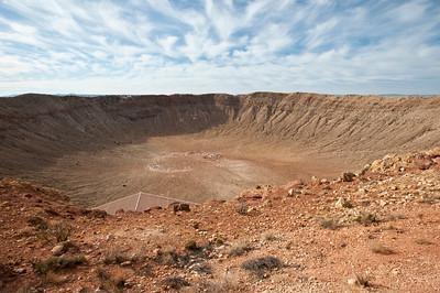 Nobody, North America, USA, Meteor Crater near Winslow, Arizona