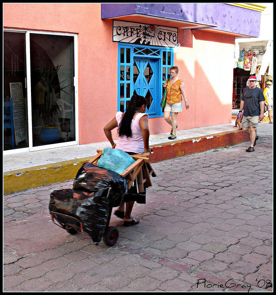 A Woman's Work IS Never Done <br /> Isla Mujeres, Mexico.