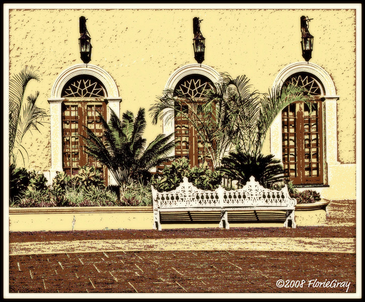 Town Square; San Jose del Cabo, Mexico (experimenting with effects)  <b>Copyright © Florence T. Gray. This image is protected under International Copyright laws and may not be downloaded, reproduced, copied, transmitted or manipulated without written permission.</b>