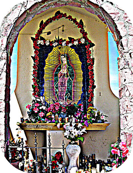 Detail, Shrine at Tropic of Cancer <br /> ©2008 FlorieGray