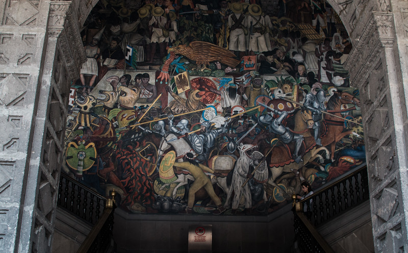 Part of Diego Rivera's mural on the history of Mexico