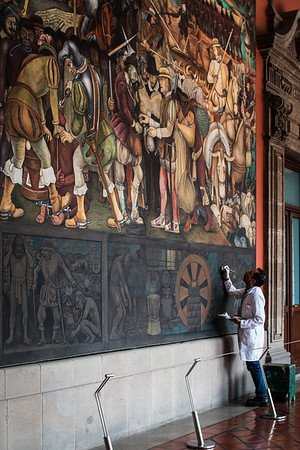 Restoring the Diego Rivera murals
