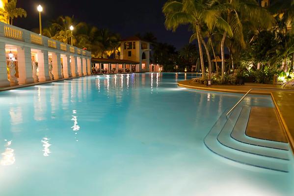 Biltmore Pool at Night