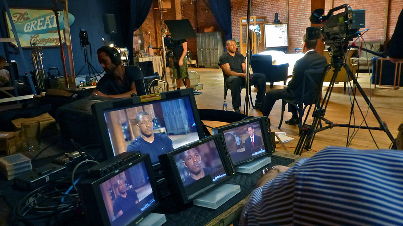 A recent 4 camera investigative journalism piece for ESPN.  We interviewed a former NBA player and University of North Carolina basketball star about his concerns regarding academic improprieties and college athletes.  We used a loft in a gritty part of downtown L.A. as our set for this production.