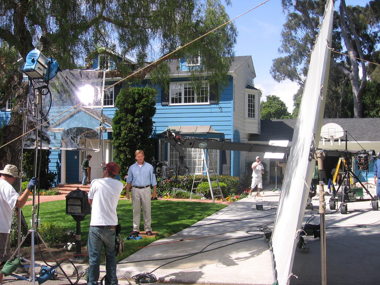 Behind the scenes on another commercial with the famous Mark Koonce of Jibworks.