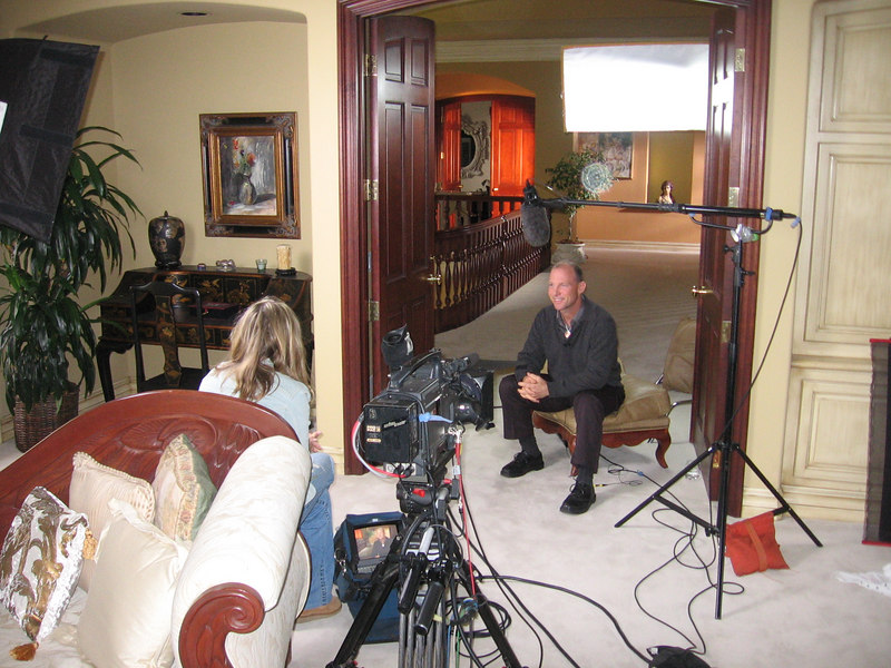 Another interview in the mansion