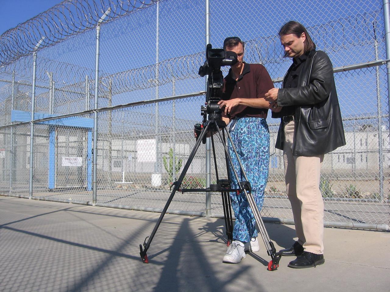 Shooting at a California prison...see previous shot for explanation regarding the pants.