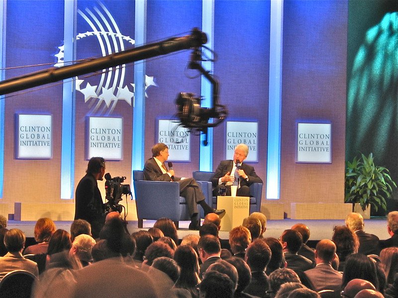 The Bill & Bill show...Bill Clinton interviewing Bill Gates...not about making money, but the task of giving it away!