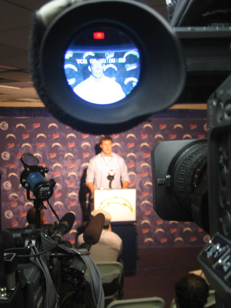In Philip Rivers' first year as a starter he goes 14 - 2.  This is one of the post game press conferences we did with him that year.