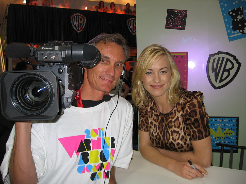 Yvonne Strahovski from Chuck on NBC at Comic Con.  Such a sweet woman she was and even more beautiful in person.