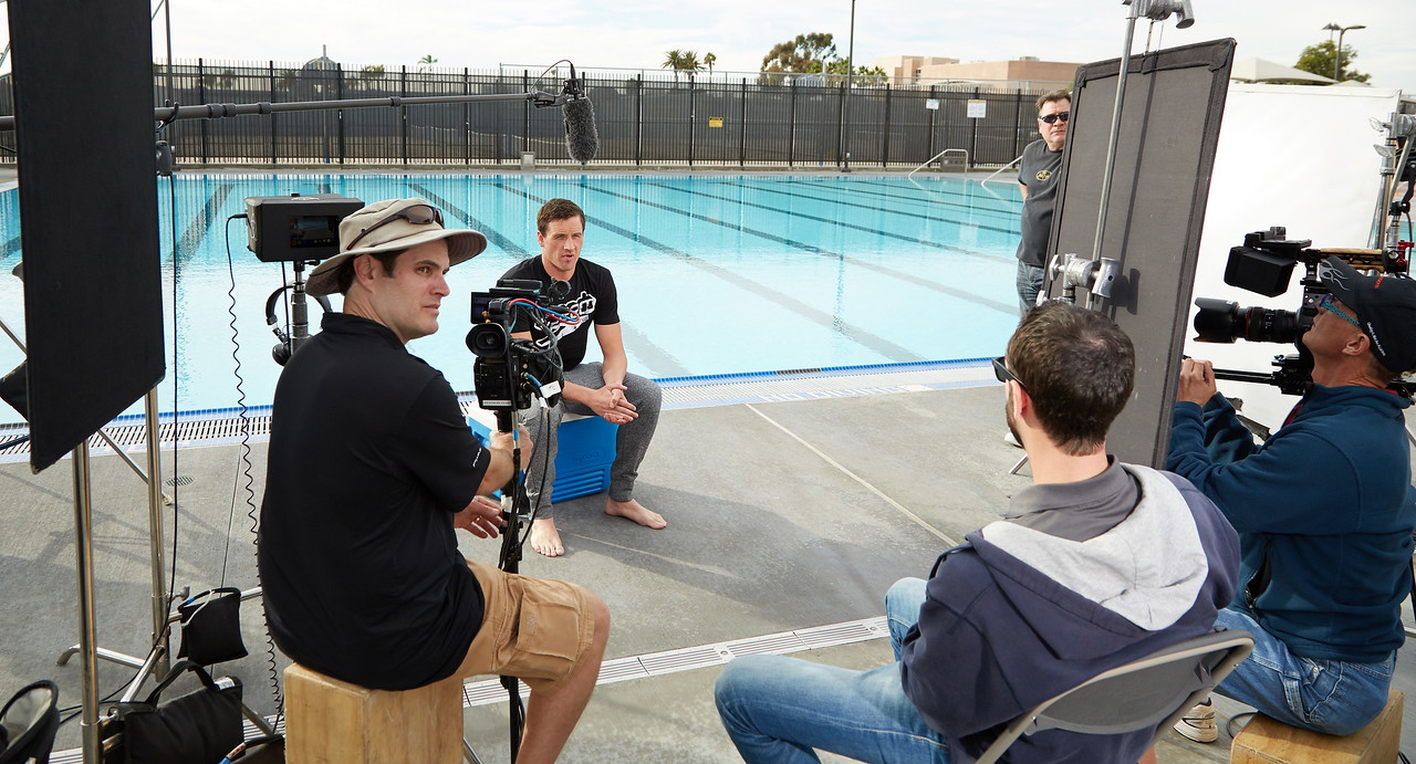Shooting here with 11 time Olympic medalist (5 Gold) Ryan Lochte