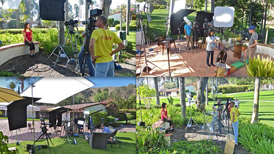 Here are some shots of our recent shoot for Harper Collins publishing.  We were shooting a series of health and lifestyle segments at a ranch in San Juan Capistrano.  We were sync rolling four Canon 5D Mark III cameras.