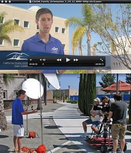 Orientation video for families of Cal State San Marcos shot with my HPX 500.  Here's the piece:  https://www.youtube.com/watch?v=2Qeil3khR0I