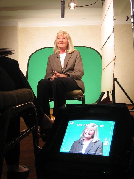 Green screen interview for a corporate client