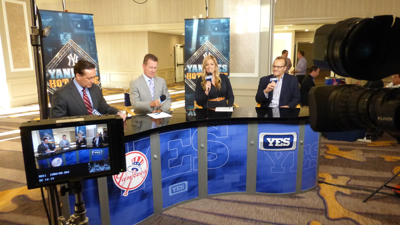 I spent 4 days working with the YES Network covering baseball and the Yankees at the MLB winter meetings in San Diego.  Here you see former Yankee and 4x World Series winning manager Joe Torre with the hosts of the show.